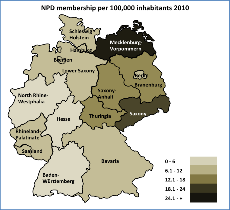 The Geographic Distribution Of The Extreme Right In Germany MYPLACE - Germany map test