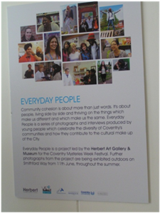 "Poster for the ""Everyday People"" exhibit at the Herbert Museum"