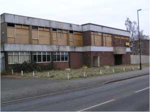 Tile Hill Social Club in Coventry, once a source of pride for one generation, now vandalised by another.