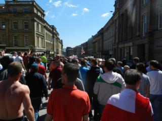 EDL Demo, Newcastle